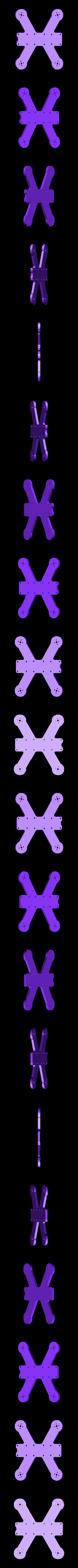 """bottomplate25.stl Download free STL file QAV-R 120H - 2.5"""" Frame • 3D print design, Gophy"""