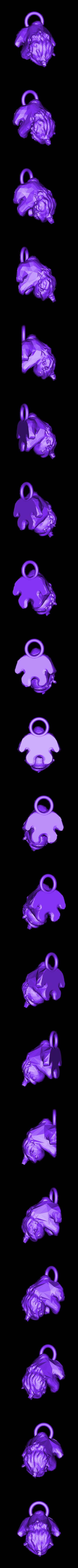 licourson.stl Download STL file key ring Licourson : Unicorn baby bear • 3D printing design, michoko