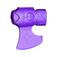 axe2_fixed.stl Download STL file Hacha Leviathan de kratos / Kratos Leviathan Axe, from GOD OF WAR • 3D printing template, MLBdesign