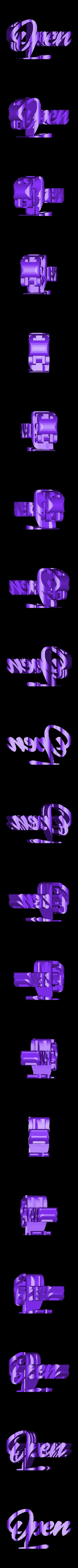 OPEN_CLOSE.stl Download STL file OPEN/CLOSED Shop sign • 3D printing model, rocknrollah84