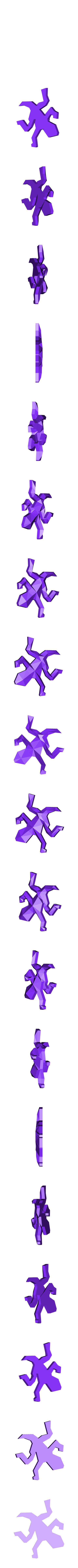 Escher_Lizard_LowPoly_Small_ok.stl Download free STL file Escher Lizards • 3D printable model, Chrisibub