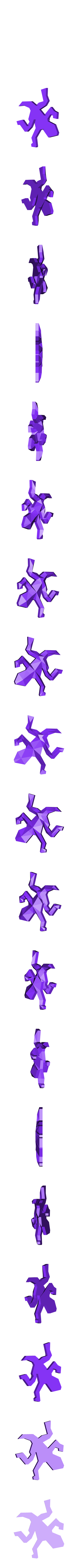 Escher_Lizard_LowPoly_Medium_ok.stl Download free STL file Escher Lizards • 3D printable model, Chrisibub
