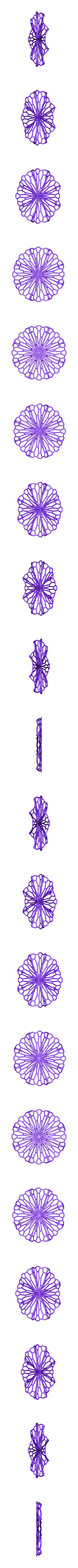 f_shape2_earrings_repaired.stl Télécharger fichier STL gratuit Art mathématique : Cercle froissé (boucles d'oreilles) • Design pour imprimante 3D, Kay
