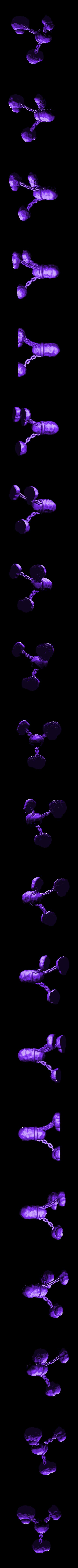 ChainedRock.stl Download free STL file Floating Rock • 3D printer template, daandruff