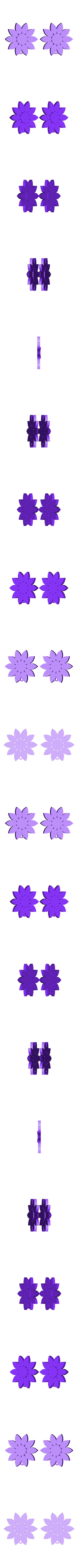 sunflowers2.stl Download free STL file Sunflowers Earrings • Object to 3D print, alberto_da_meduna