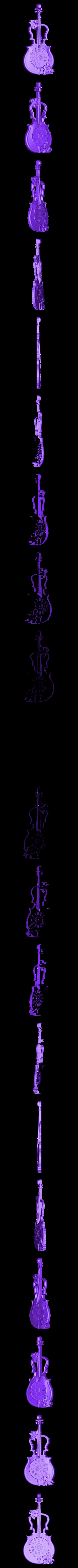 1028. Wall_Clock.STL Download free STL file Violin Wall Clock • 3D printer model, stl3dmodel