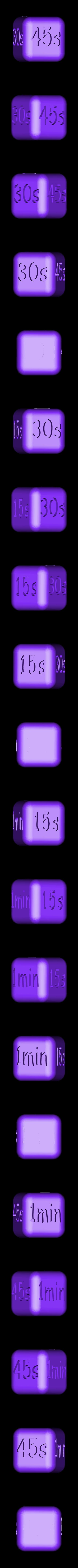 Dé tempsv2.STL Download STL file Naughty dice • 3D printable template, Overonez