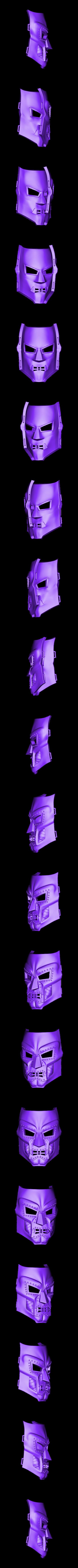 Doom_Mask_23cm.stl Download STL file Doom mask - Helmet Marvel 3D print model • 3D printable model, Bstar3Dart