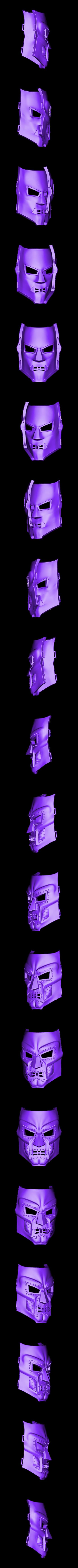 Doom_Mask24cm.stl Download STL file Doom mask - Helmet Marvel 3D print model • 3D printable model, Bstar3Dart