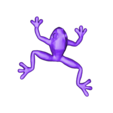 frog_full.stl Download free STL file Frog on branches - multi-color • 3D printable template, bpitanga