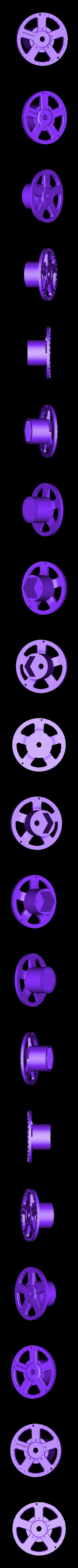 rim face (rear right).stl Télécharger fichier STL gratuit 1991 Mazda 787B 3d Voiture RC imprimée de 1991 • Objet à imprimer en 3D, brett