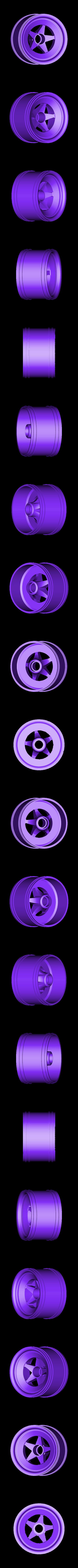 front rim.stl Download free STL file Aryton Senna's Mclaren MP4/6 3d Printed RC F1 Car • 3D printing design, brett