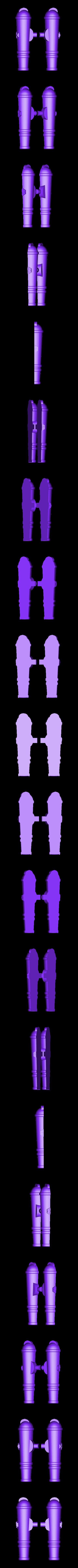 Split_Wrist_Cannon.stl Download free STL file Modular Mech SteamPunk • Design to 3D print, mrhers2