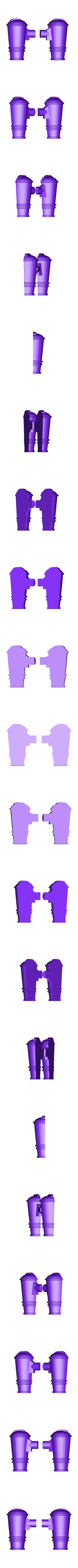 Split_Shoulder_Cannon.stl Download free STL file Modular Mech SteamPunk • Design to 3D print, mrhers2