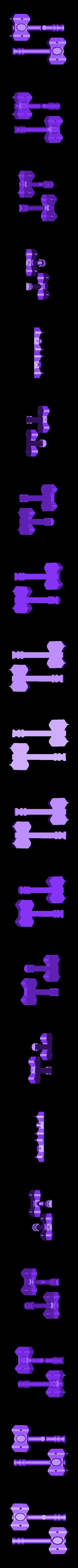 Split_Hammer.stl Download free STL file Modular Mech SteamPunk • Design to 3D print, mrhers2