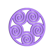 Spiral_earing_pendant2.STL Download free STL file Spiral Pendant 2 • 3D printing design, FelicityAnne