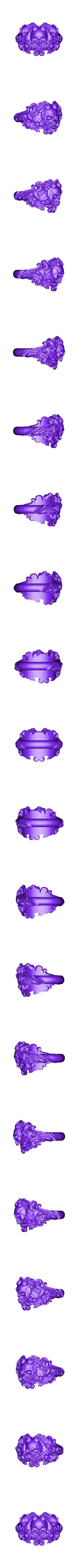 Inner diametr 20mm weight 15.4gr.stl Download OBJ file Vintage Ring • 3D print template, Roman_Kharikov