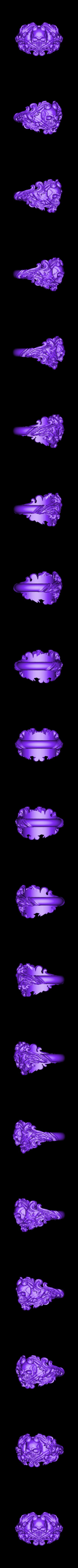 Inner diametr 21mm weight 18gr.obj Download OBJ file Vintage Ring • 3D print template, Roman_Kharikov