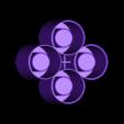 4roundshotsV3.stl Télécharger fichier STL gratuit Moule à verre Ice Shot V3 • Modèle pour imprimante 3D, Gophy