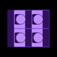 4squareshotsV3.stl Télécharger fichier STL gratuit Moule à verre Ice Shot V3 • Modèle pour imprimante 3D, Gophy