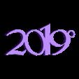 porte clef 2019.stl Télécharger fichier STL gratuit porte-clefs 2019 • Modèle pour impression 3D, catf3d