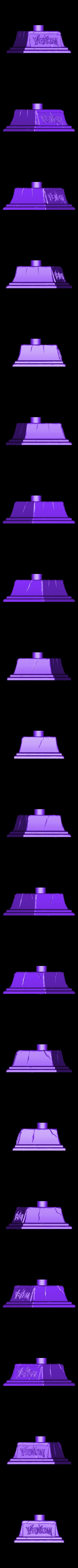 Base.stl Download STL file Venom Bust - Marvel 3D print model • 3D printable design, Bstar3Dart