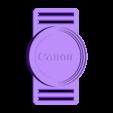 Porta tapa 55-58-62 Canon.stl Download STL file Lens Cap Nikon-Canon 55-58-62 mm • Model to 3D print, Bos77ero
