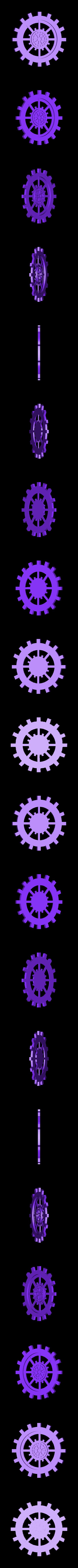 grand engrenage modif.stl Download STL file gear decoration • 3D printer template, catf3d