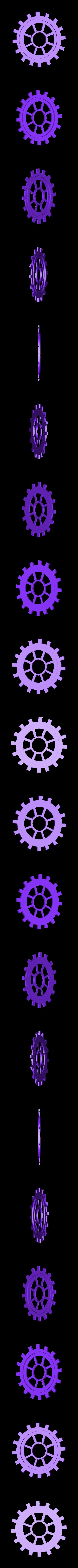 moyen engrenage modif.stl Download STL file gear decoration • 3D printer template, catf3d