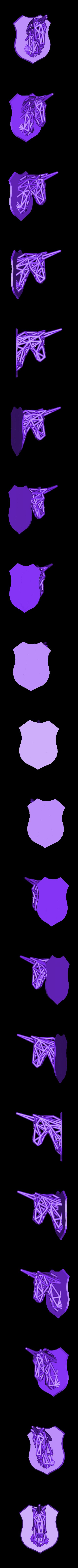 licorne fusionné .stl Télécharger fichier STL Licorne voronoi  • Plan pour impression 3D, Motek3D