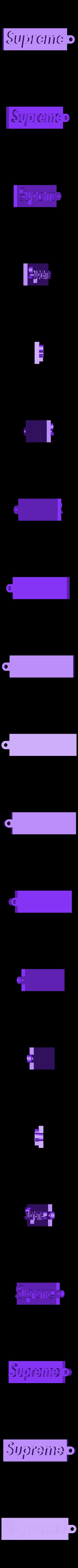 box logo Sup.stl Download free STL file Supreme Key Chain • 3D printer model, HaruNineOne