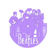 beatles_v1.stl Download free STL file Reloj The Beatles • 3D print design, 3dlito