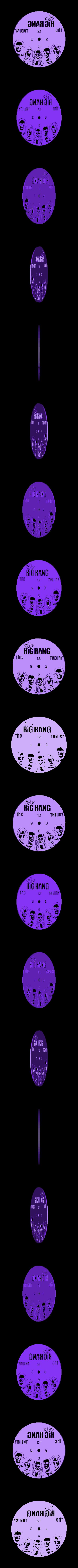 BigBangTeory.stl Download STL file Clock vinyl collection • 3D printer design, razoner