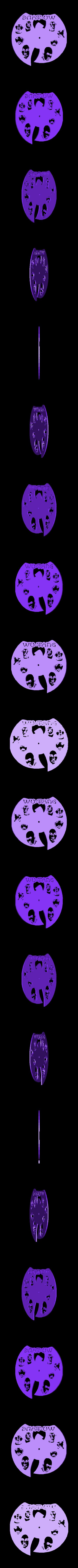 WuTang_Reloj.stl Download STL file Clock vinyl collection • 3D printer design, razoner