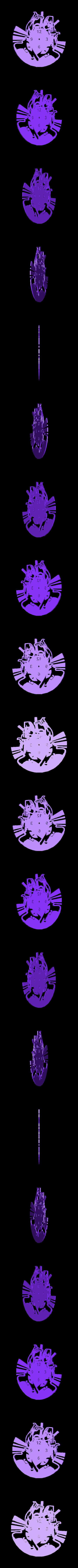 Dead Pool_Reloj.stl Download STL file Clock vinyl collection • 3D printer design, razoner