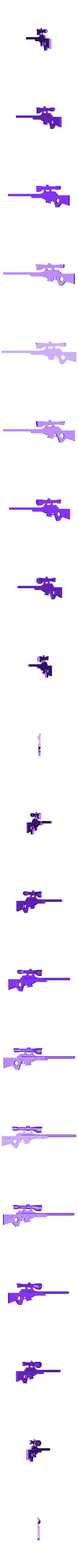 Half_bolt1.stl Download free STL file Fortnite Bolt Action • Template to 3D print, NickYeadon