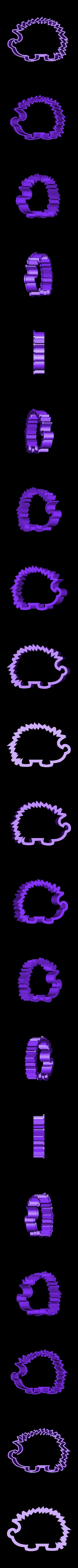 hedgehog.stl Download STL file Fancy Animals cookie cutter set • 3D printable model, davidruizo