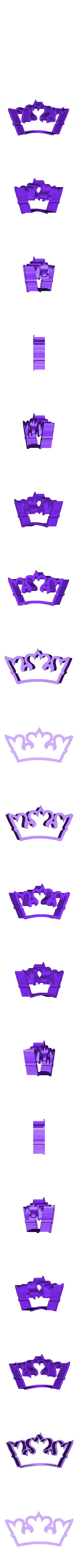 crown 1.stl Download STL file Crown cookie cutter set • 3D printer design, davidruizo