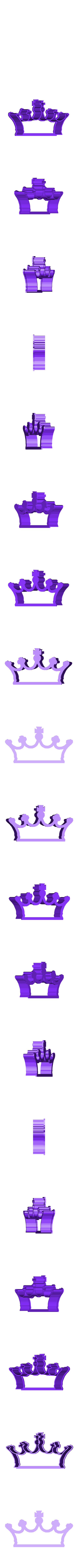 crown 3.stl Download STL file Crown cookie cutter set • 3D printer design, davidruizo