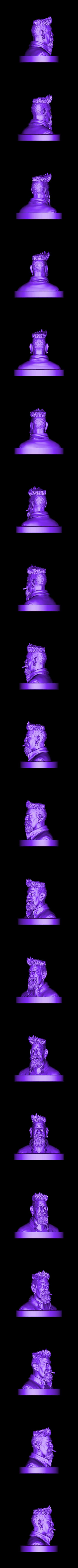 ZombieHunter.stl Download STL file Zombie Hunter Bust  • Template to 3D print, Bstar3Dart