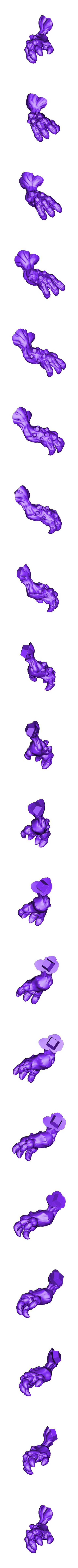 Mushroom_arm_right.stl Download free STL file Mushroom man • 3D printer design, duncanshadow