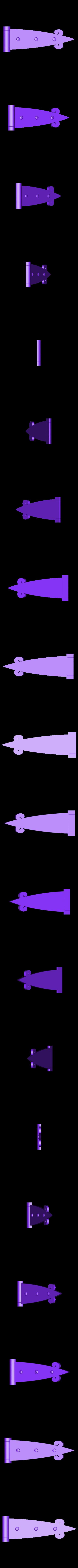cardine.STL Télécharger fichier STL gratuit la poignée de porte - alice au pays des merveilles • Modèle pour impression 3D, sergioinglese