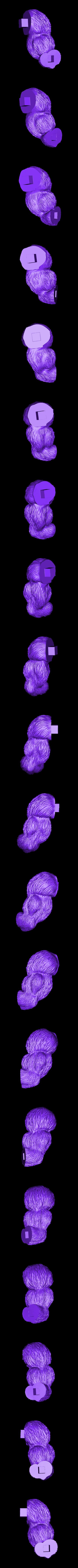 ArmR.stl Download STL file Oozaru Baby - Dragon ball - 3D print model  • Object to 3D print, Bstar3Dart