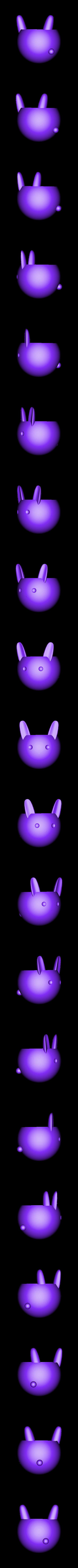 Rabbit Pot v1.stl Download STL file Cute Rabbit Pot • 3D printable design, tomowlondon