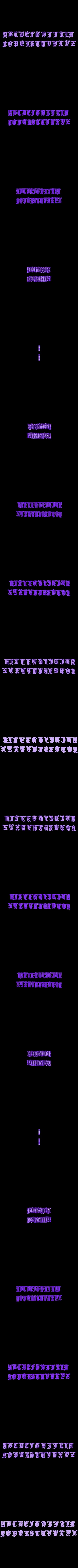 abc gothica.stl Download STL file gothic alphabet • 3D printable model, fcosaldana0210