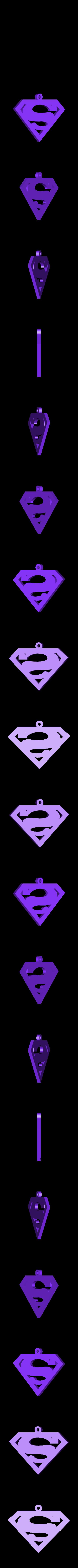 superman.stl Download free STL file superman pendant • 3D printable template, fcosaldana0210