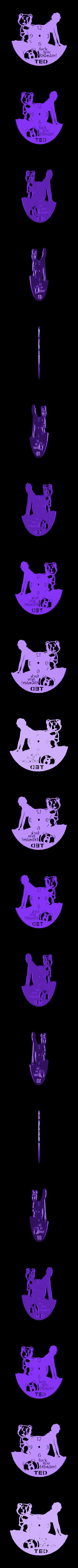ted_reloj_216x197x2.stl Télécharger fichier STL gratuit Reloj Ted • Plan pour imprimante 3D, 3dlito