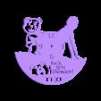 ted_reloj_200x182x2.stl Télécharger fichier STL gratuit Reloj Ted • Plan pour imprimante 3D, 3dlito
