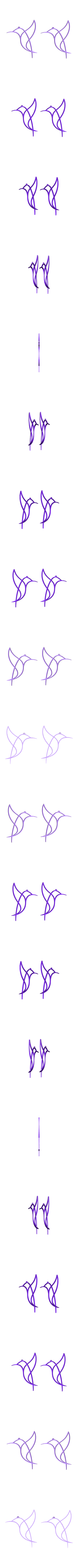 2_pendents_bird.stl Download free STL file Pendientes Pajaro • 3D printer object, 3dlito