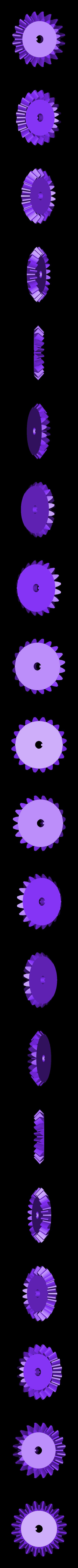 1x_Bevel_Gear_1.stl Télécharger fichier STL gratuit Réducteur industriel à couple conique / Réducteur à engrenages (version en coupe) • Objet pour imprimante 3D, LarsRb